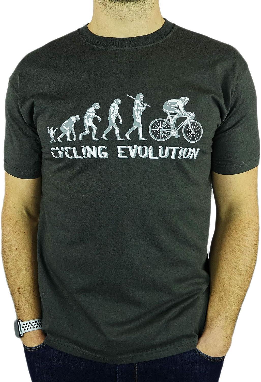 My Generation Gifts Cycling Evolution - Regalo Divertido del Ciclismo de cumpleaños/Presente para Hombre de la Camiseta
