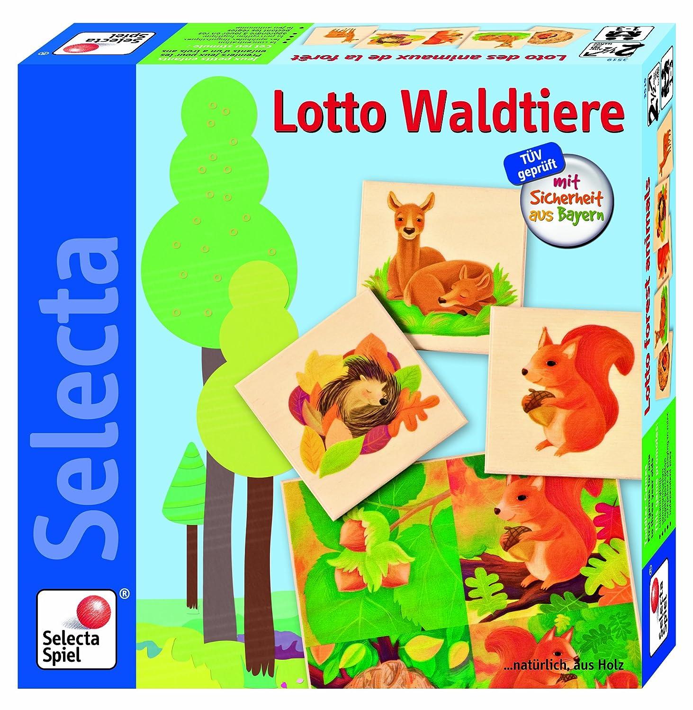 Selecta 3519 - Lotto Waldtiere, Lernspiel, bunt