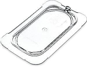 Carlisle 10336U07 StorPlus Ninth Size Polycarbonate Universal Flat Surface Food Pan Lid, Clear