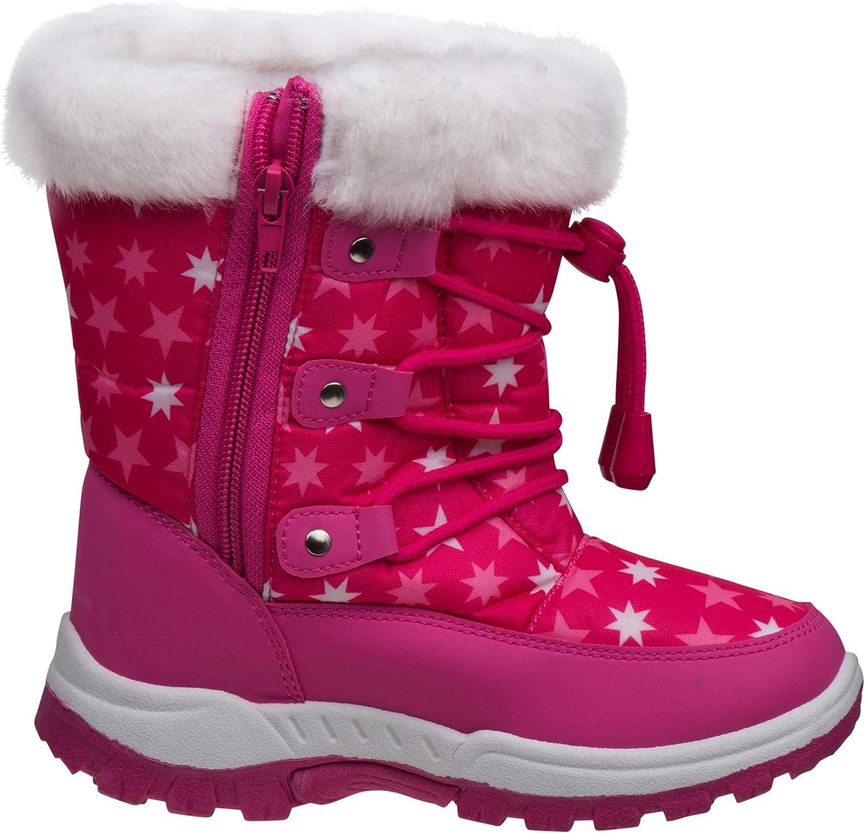 Toddler//Little Kid//Big Kid Rugged Bear Girls Fur Top Snow Boot