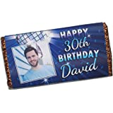 Personalised Mens Boys Happy Birthday PHOTO 114g Milk Chocolate Bar Gift For Him 12th 16th