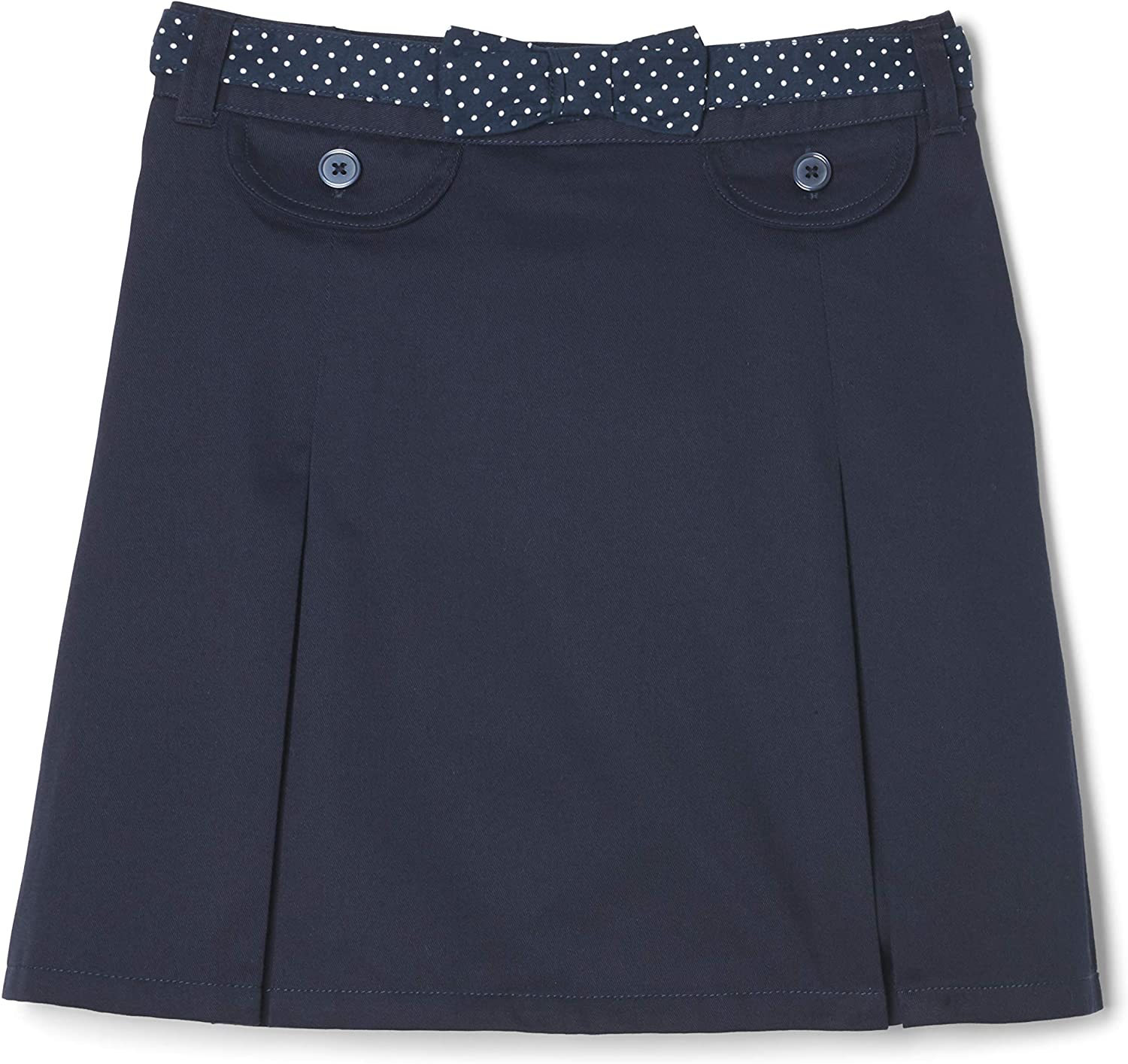 French Toast Girls' Polka Dot Belted Scooter: Clothing