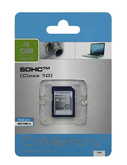 CnMemory 4GB SDHC 3.0 Class 10 memoria flash Clase 10 - Tarjeta de memoria (4 GB, SDHC, Clase 10, 22 MB/s)