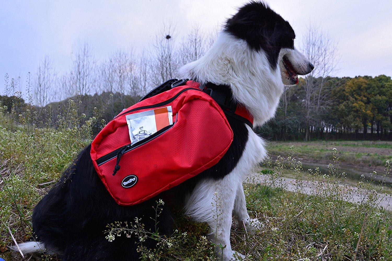 BINGPET Dog Harness Backpack Doggie Saddlebags by BINGPET (Image #6)