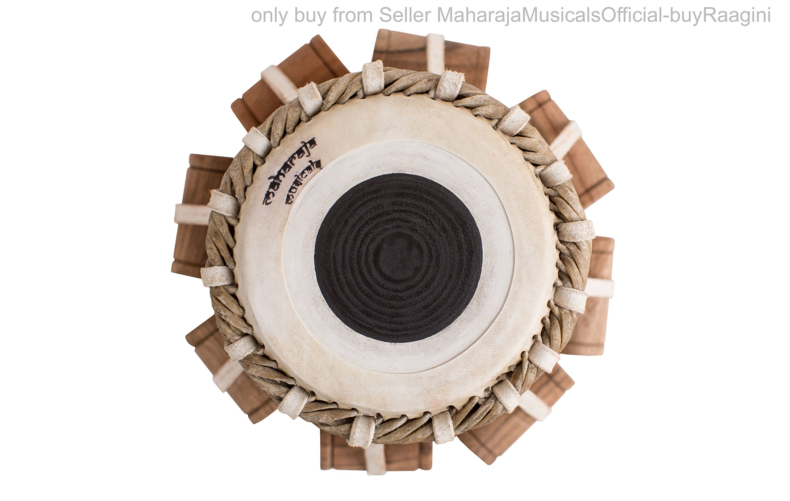 MAHARAJA Student Tabla Drum Set, Basic Tabla Set, Steel Bayan, Dayan with Book, Hammer, Cushions & Cover - Perfect Tablas for Students and Beginners on Budget (PDI-IB) Tabla Drums, Indian Hand Drums by Maharaja Musicals (Image #8)