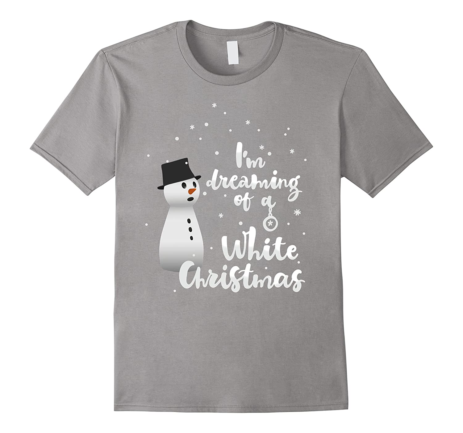 White Christmas snowman cute dream kids gift T-Shirt black-TD