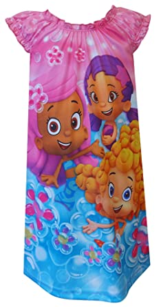b3f3dad7d Amazon.com  Nickelodeon Bubble Guppies Pink Toddler Nightgown for ...