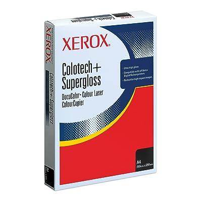 Xerox Colotech Supergloss S/úper-brillo, Color blanco, 250 g//m/², ISO 9706, 1 pack de 100 hojas Papel