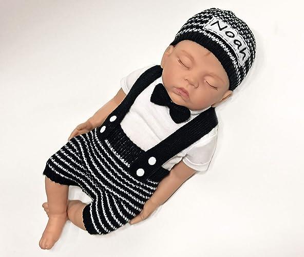 483d5e6685f Amazon.com  Baby boy outfit Baby boy Clothes Newborn boy props Newborn boy  hat Personalized outfit Baby boy coming home outfit baby boy personalized   ...