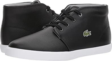 bac8c53dbe1f Lacoste Mens Asparta 118 1 P Black White 7 M