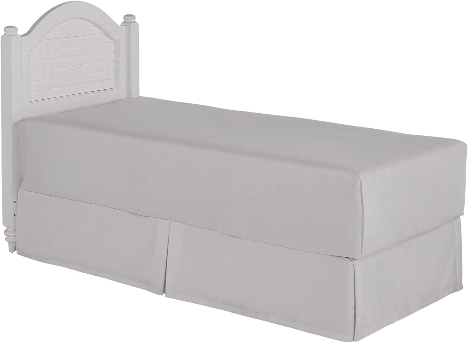 Bermuda White Brushed Twin Headboard by Home Styles