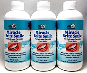 Miracle Brite Smile Mouthwash - 3 Bottles