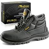 SAFETOE Botas de Seguridad para Hombre Trabajo Impermeable - 8010 Zapatos de Seguridad con Puntera de