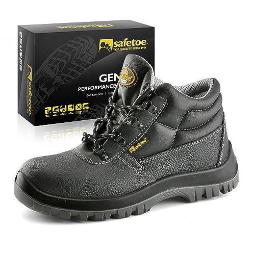 Botas de Seguridad Hombre Trabajo - SAFETOE 8356B Calzados de Trabajo  Impermeables Color Negro ...  Amazon.es  Zapatos y complementos a406434524cd