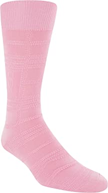 STACY ADAMS Mens Gemstone Logo Plaid Crew Dress Sock (1 Pair)