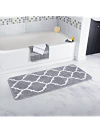 Shop Amazoncom Bath Rugs - Black and white check bath mat for bathroom decorating ideas
