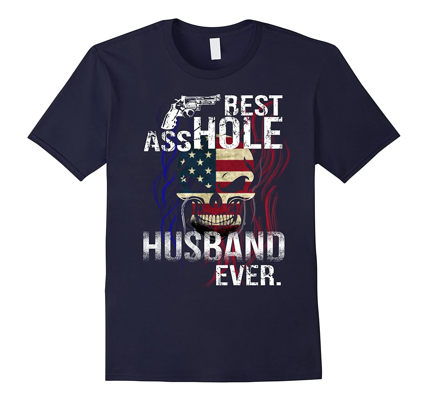 BEST ASSHOLE HUSBAND EVER GIFT T-SHIRT FOR HALLOWEEN-T-Shirt