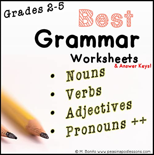 Parts Of Speech Worksheets - This Grammar Workbook Includes Parts Of Speech  Posters, Nouns, Verbs, Adjectives, Pronouns, Adverbs & Prepositions. Answer  Keys Are Included! 1. Nouns A Catchy Nouns Definition Poster. The Worksheets  Cover General Nouns