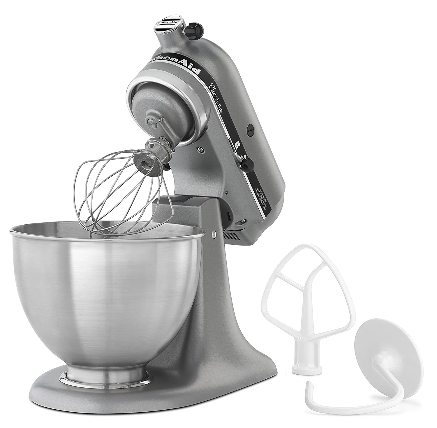 Amazon.com: KitchenAid KSM75SL Classic Plus 4.5 Qt. Tilt Head Stand Mixer,  Silver: Electric Stand Mixers: Kitchen U0026 Dining