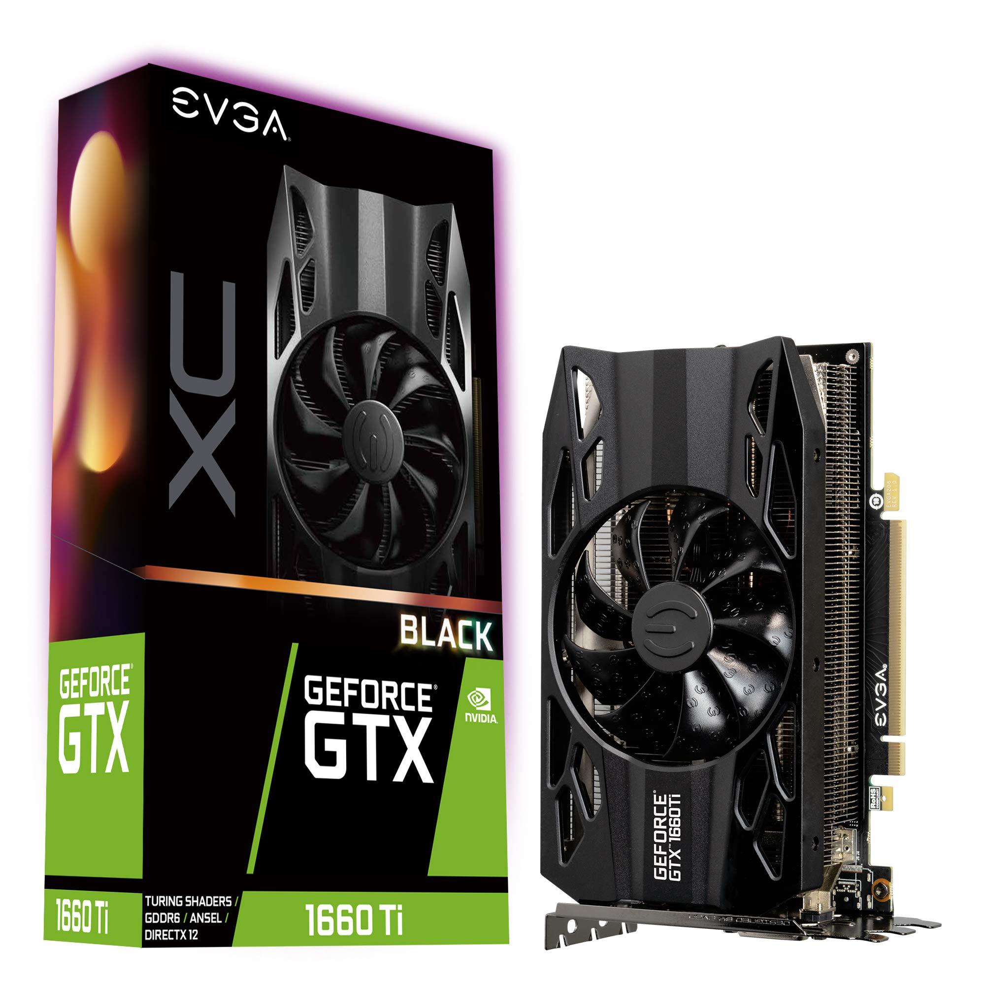 EVGA GeForce GTX 1660 Ti XC Black Gaming, 6GB GDDR6, HDB Fan Graphics Card 06G-P4-1261-KR by EVGA