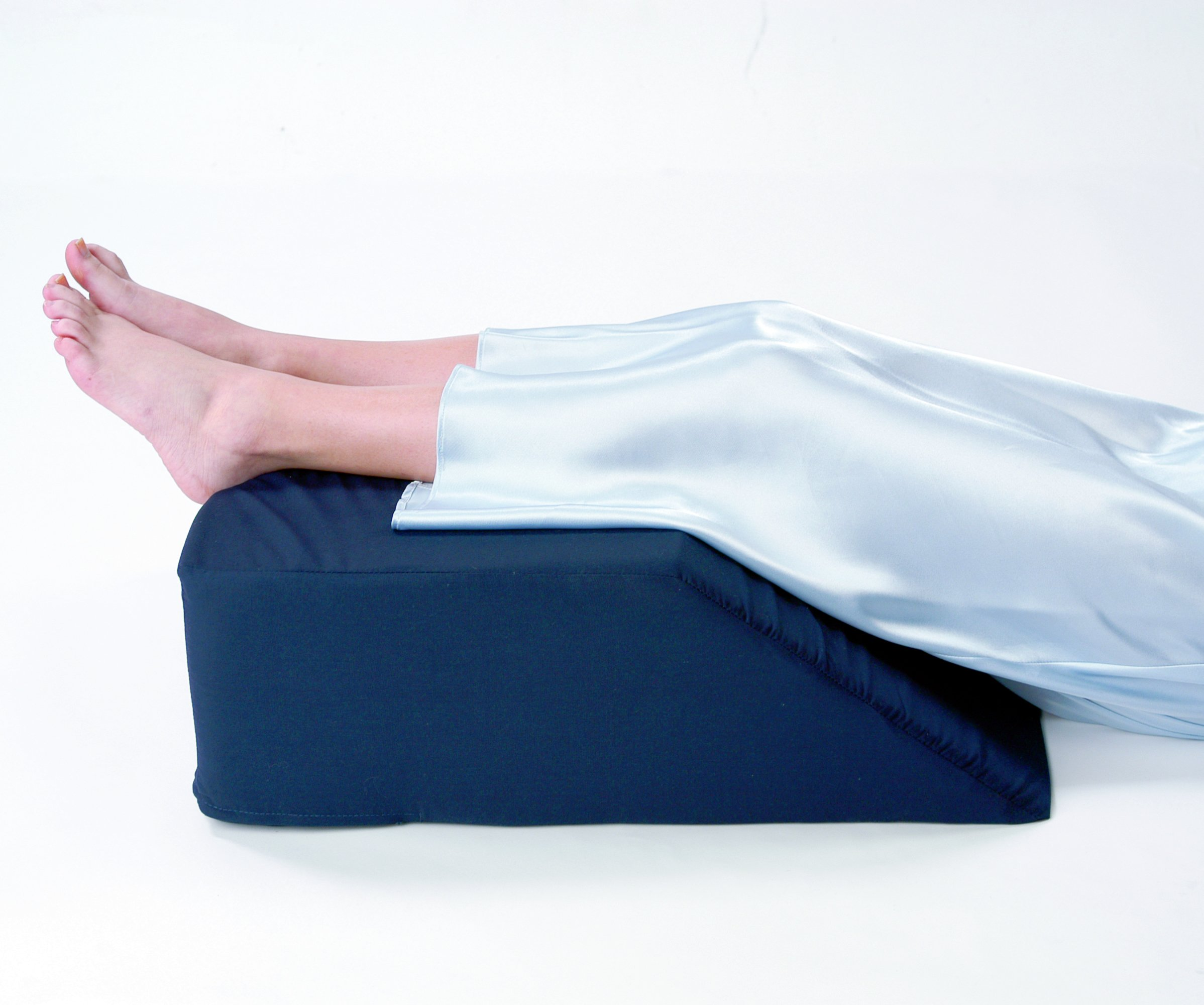 Leg/bed Wedge with High Quality, Removable Cover (Size: 8'' X 20'' X 25''. Color Navy)