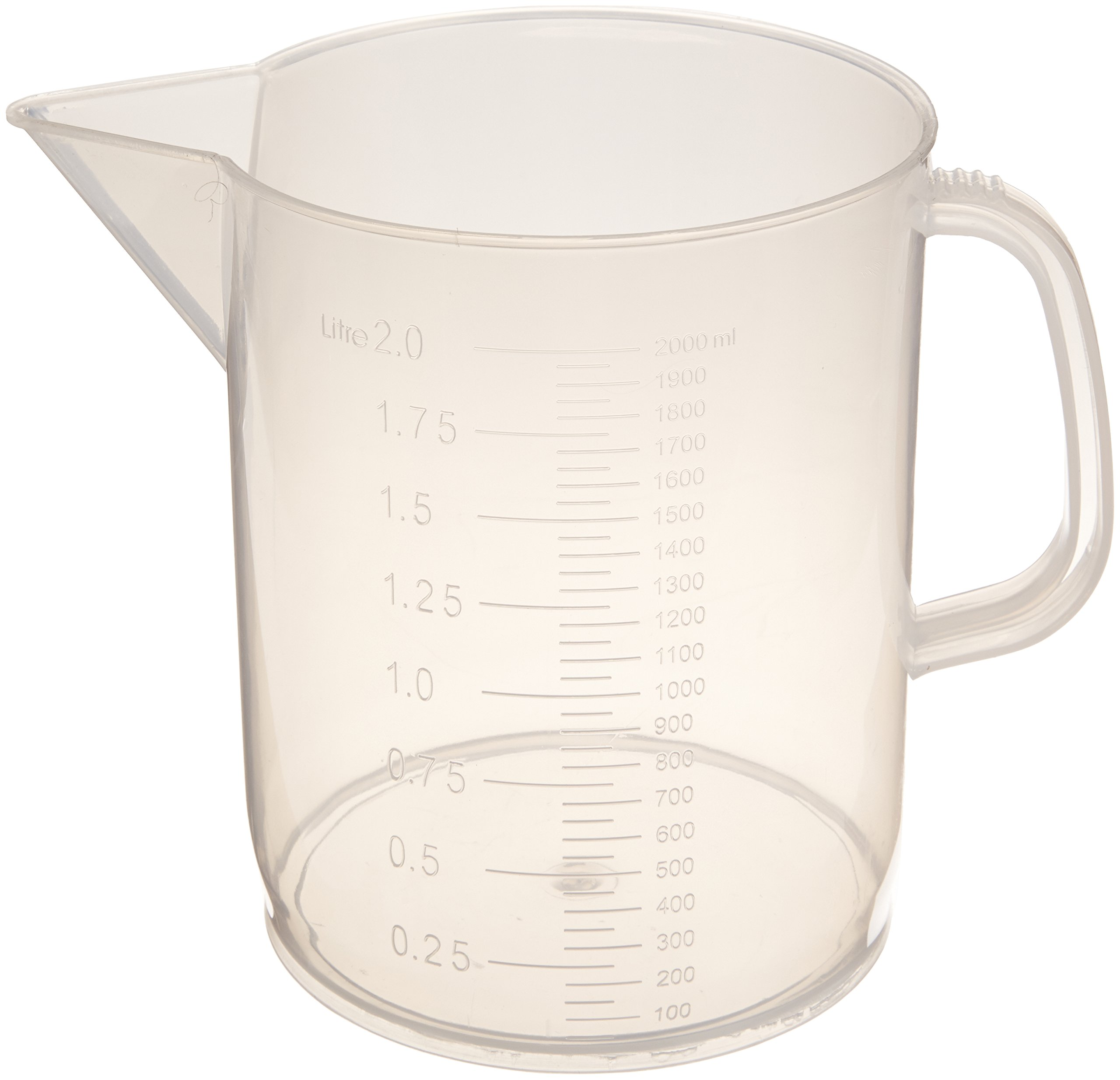 United Scientific 81123 Polypropylene Short Form Pitchers, 2000ml Capacity (Pack of 6) by United Scientific Supplies