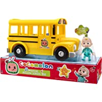Cocomelon Musical Yellow School Bus, Plays Clip from 'Wheels on The Bus,' Featuring Removable JJ Figure – Character Toys…