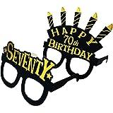 70th birthday decorations party glasses - seventy birthday masks - black gold theme 70th birthday party supplies. 70th birthd