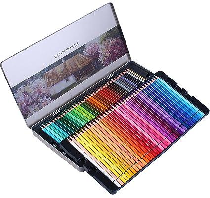 Amazon.com: Colored Pencils Professional 72 Colored Pencil Set for ...