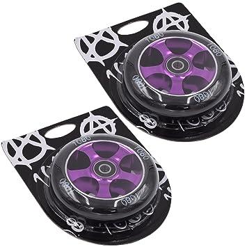 1080 patinete ruedas 100 mm 5 radios de aleación (1 par ...