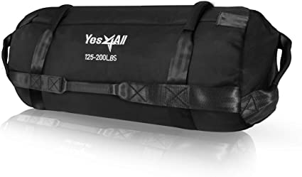 Yes4All Sandbag Weights//Weighted Bags Sandbags for Fitness Conditioning Camouflage - L Crossfit with Adjustable Weights
