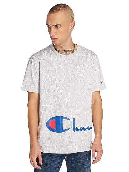 1df7f6dad244 Champion Men T-Shirts Big Logo Grey 2XL: Amazon.co.uk: Clothing