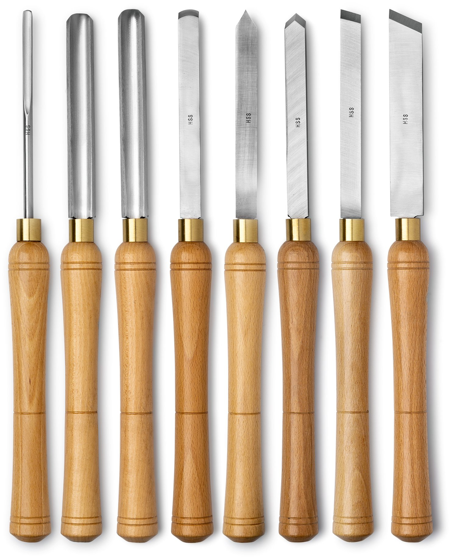 Werks Lathe Set, HSS blades, 8pc, Quality Wood Make by Werks