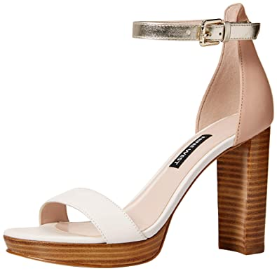 3c15a600c157 Nine West Women s Dempsey Leather Heeled Sandal Off White Multi 6 ...