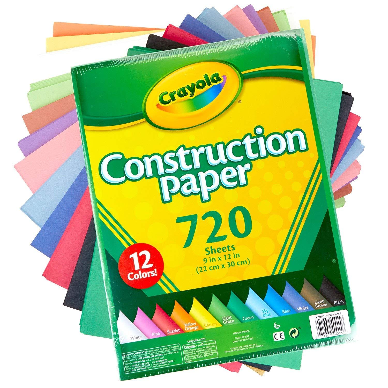 720 ct. 12 Assorted Colors Crayola Bulk Construction Paper