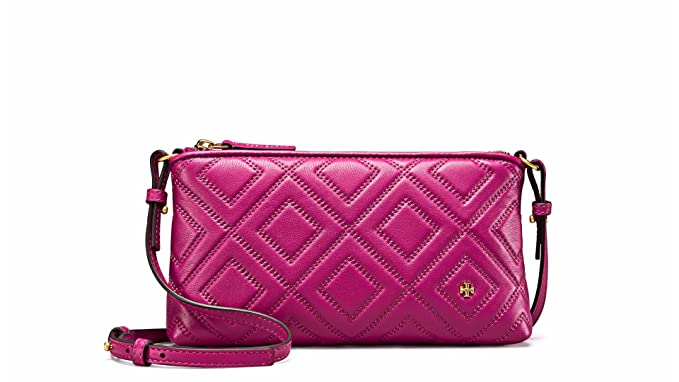 e8e447c5c5b Amazon.com  Tory Burch Fleming Quilted Leather Crossbody Bag (Party ...