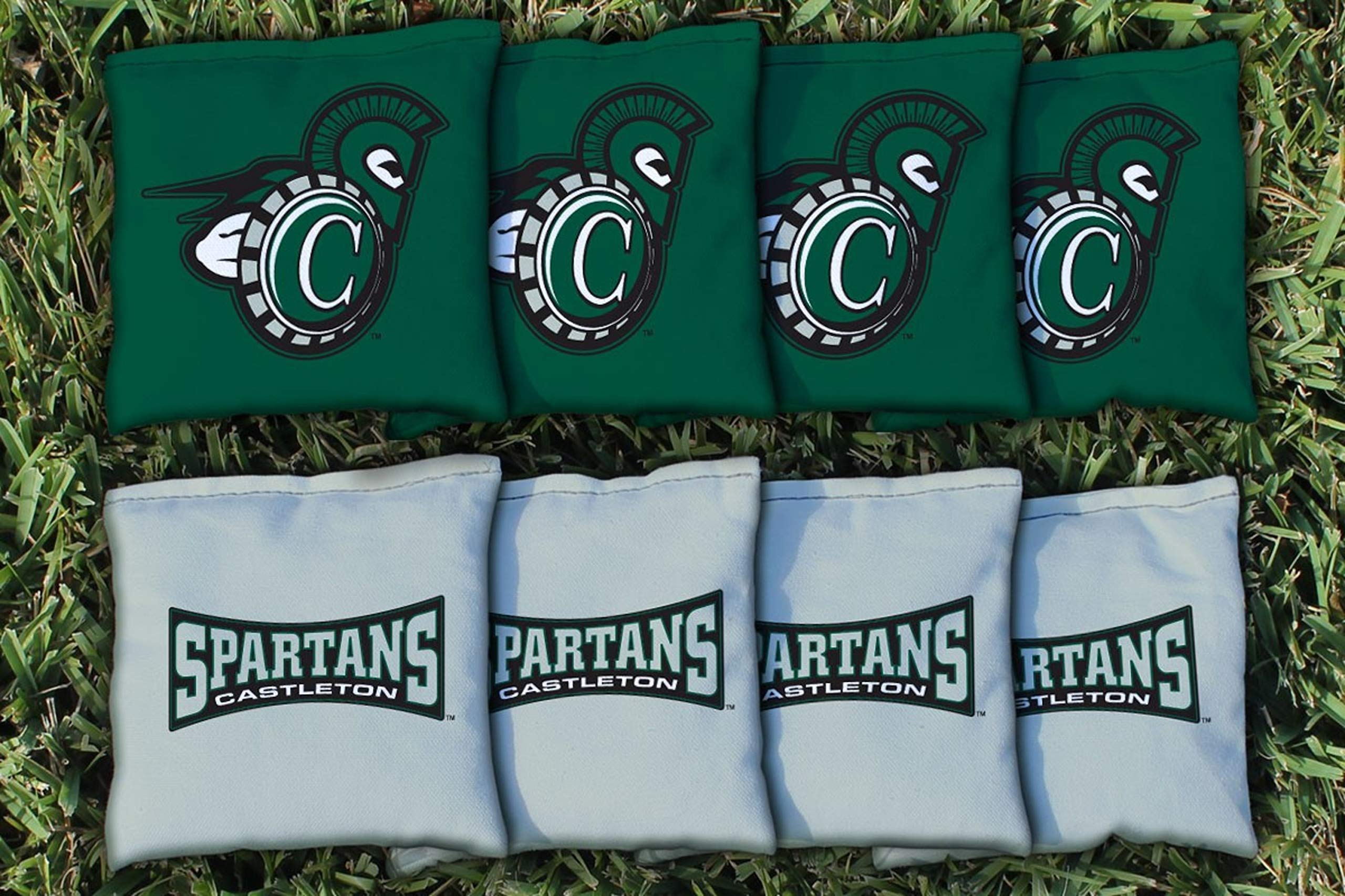 Victory Tailgate NCAA Collegiate Regulation Cornhole Game Bag Set (8 Bags Included, Corn-Filled) - Castleton Spartans by Victory Tailgate