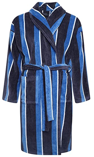 Mens Towel Dressing Gown Robe 100% Cotton Navy Blue Grey Mocha White Hotel Towelling  Terry  Amazon.co.uk  Clothing 633cee542