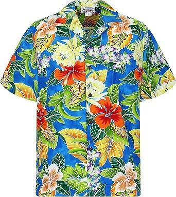 Pacific Legend | Original Camisa Hawaiana | Caballeros | S - 4XL | Manga Corta | Bolsillo Delantero | Estampado Hawaiano | Flores | Turquesa: Amazon.es: Ropa y accesorios