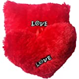 Marchie's Red Soft Couple Of Heart & Rectangle Shaped Cushions Pillow Combo For Gifts - ( 35 Cm X 25 Cm X 15Cm)