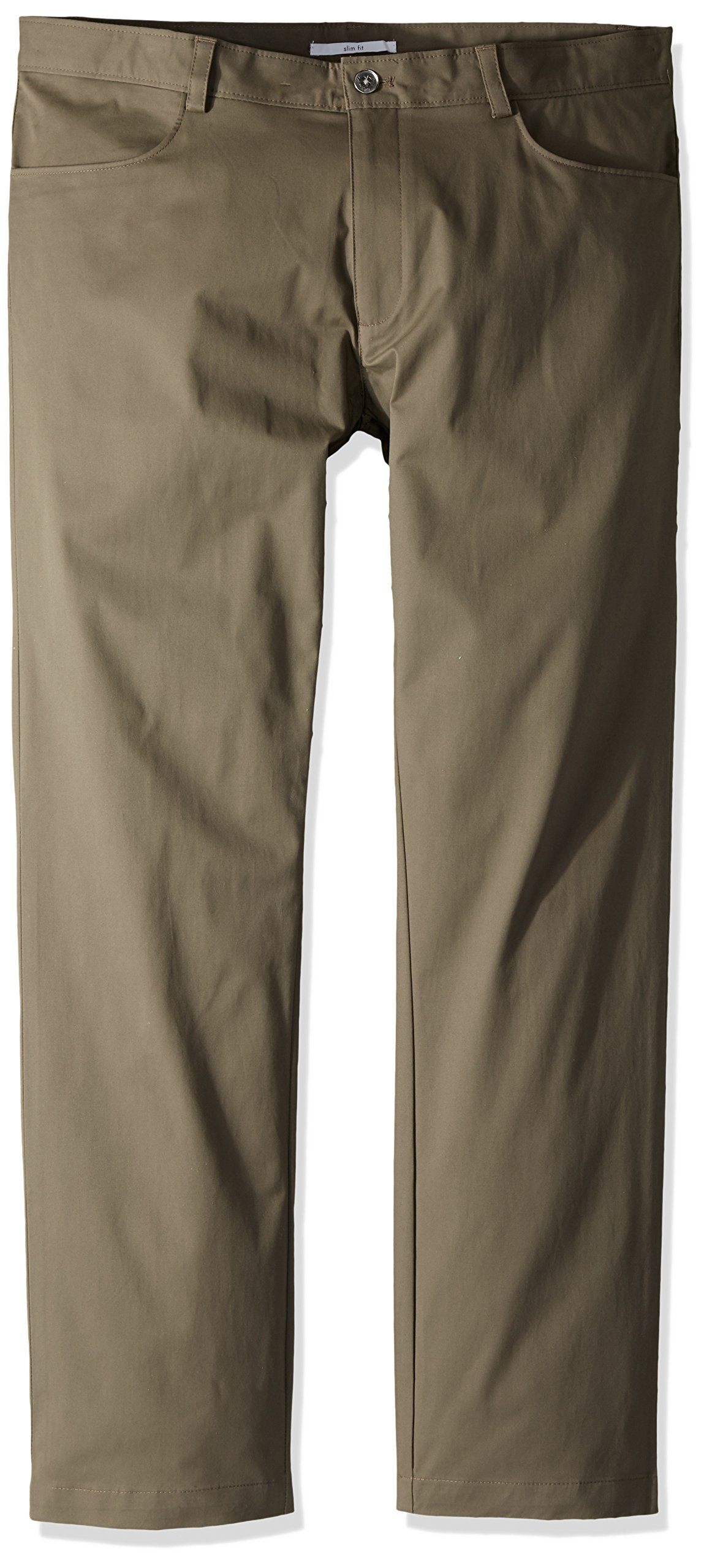 Calvin Klein Men's Slim Fit 4-Pocket Stretch Sateen Pant,Stone Pony,38x30