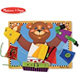 Melissa & Doug Basic Skills Board and Puzzle - Wooden Educational Toy