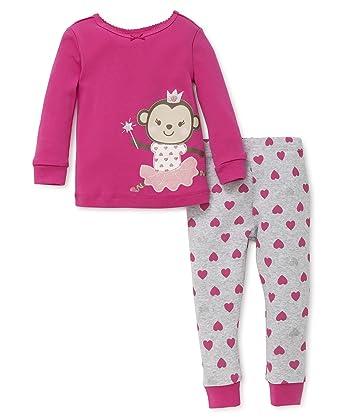 a1954e251 Amazon.com  Little Me Baby Girls  2 Piece Cotton Sleepwear  Clothing
