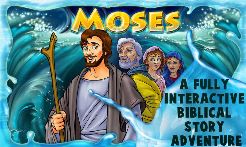 Amazon.com: Moses - An Interactive Bible Story Book & Games for ...