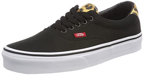 a7465745c87e07 Vans New Unisex Black Leopard Canvas Low Cut Lace Up Skate Shoes - Black