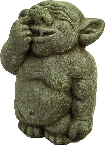 Ogre Garden Statue Picking Nose Concrete Troll Sculpture