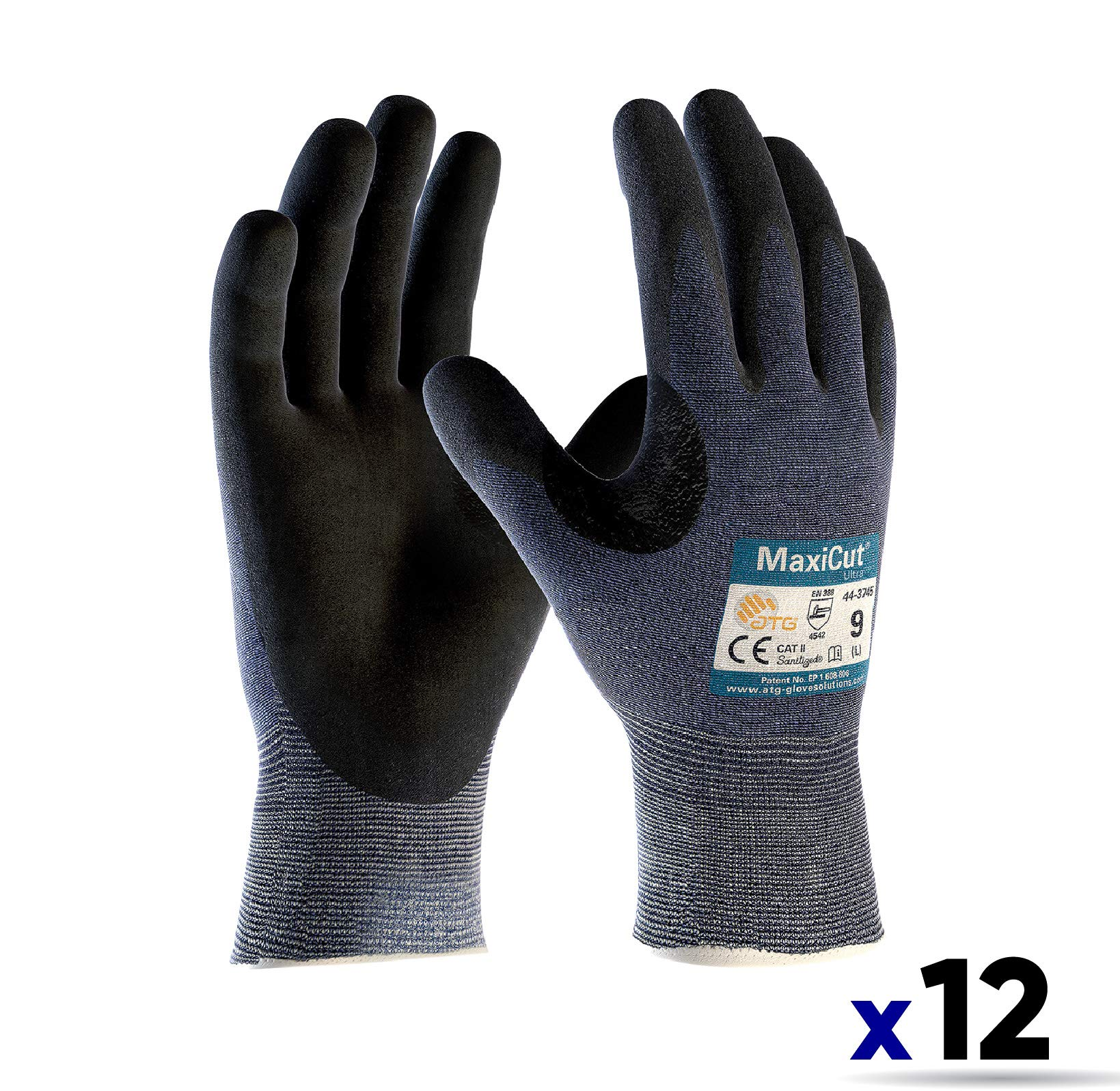 MAXICUT Ultra by ATG, 44-3745 (X-Large) - Level 3 Cut Resistant Gloves (12 Pairs) by PIP (Image #1)