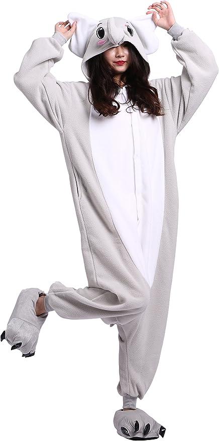 Unisexo Adulto Onesie Pijama Elefante Animal Cosplay Halloween ...