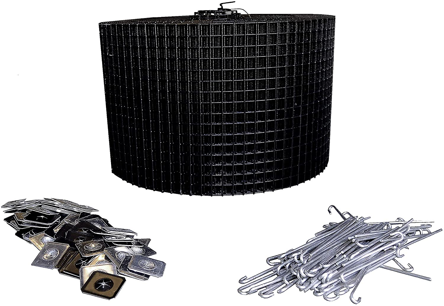 """8"""" Squirrel Guard Kit. 8 in. 100 ft. PVC Coated Galvanized Steel roll and 100 Aluminum Fasteners."""
