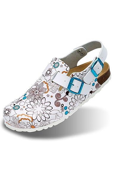 clinic+job dress Clog mit Druck Damen Shoes 38: